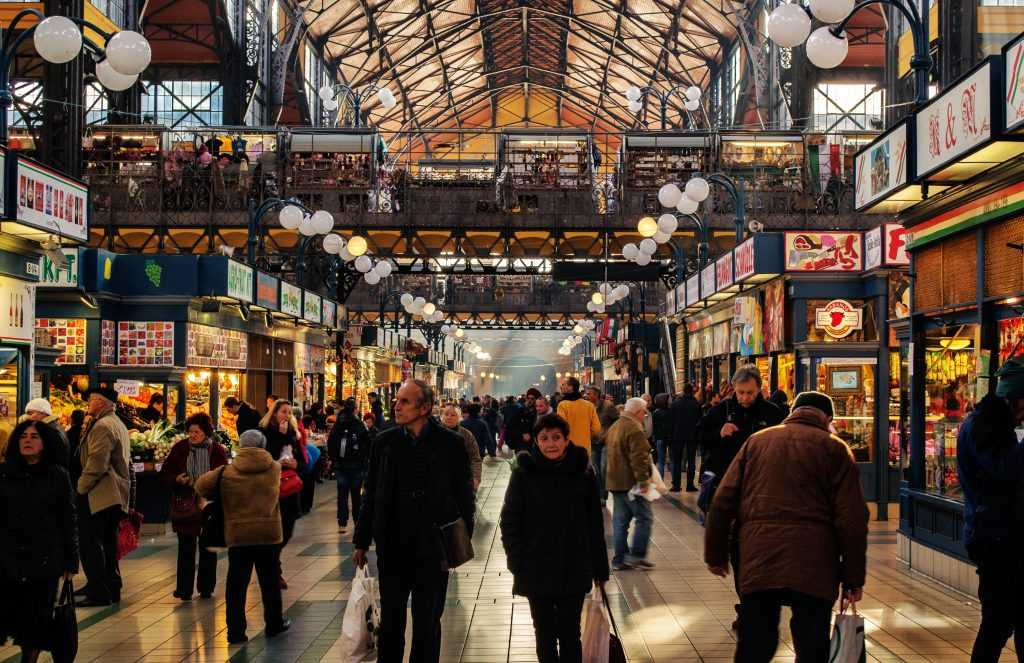 השוק המקורה המפורסם של בודפשט