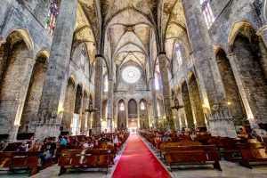 כנסיית סנטה מריה דל מאר - מראה מבפנים