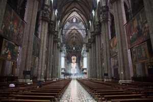 קתדרלת מילאנו מבט מבפנים