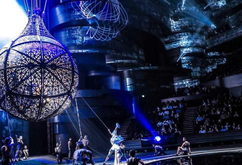 המופע La Perla מופע מושקע ופירוטכני מהמושקעים בעולם